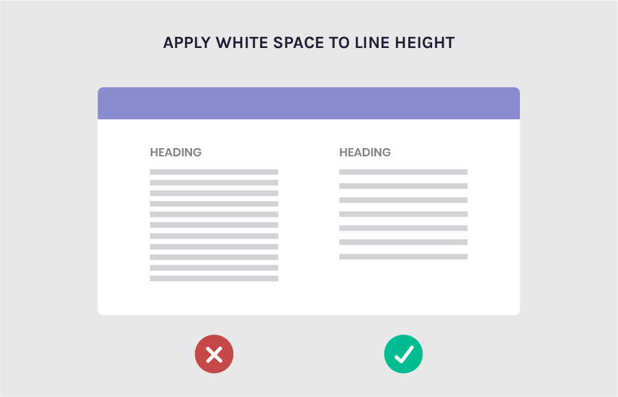 Line space to make content more readable