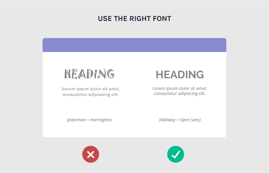 Increase legibility by using the right font