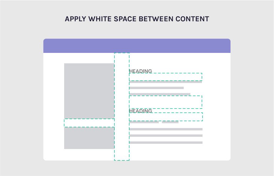 white space between content