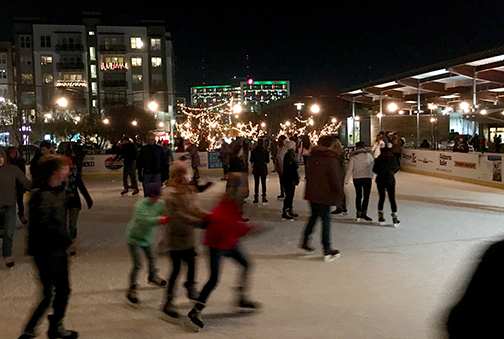 """Ice Skating in """"Birmingham's Front Lawn"""""""
