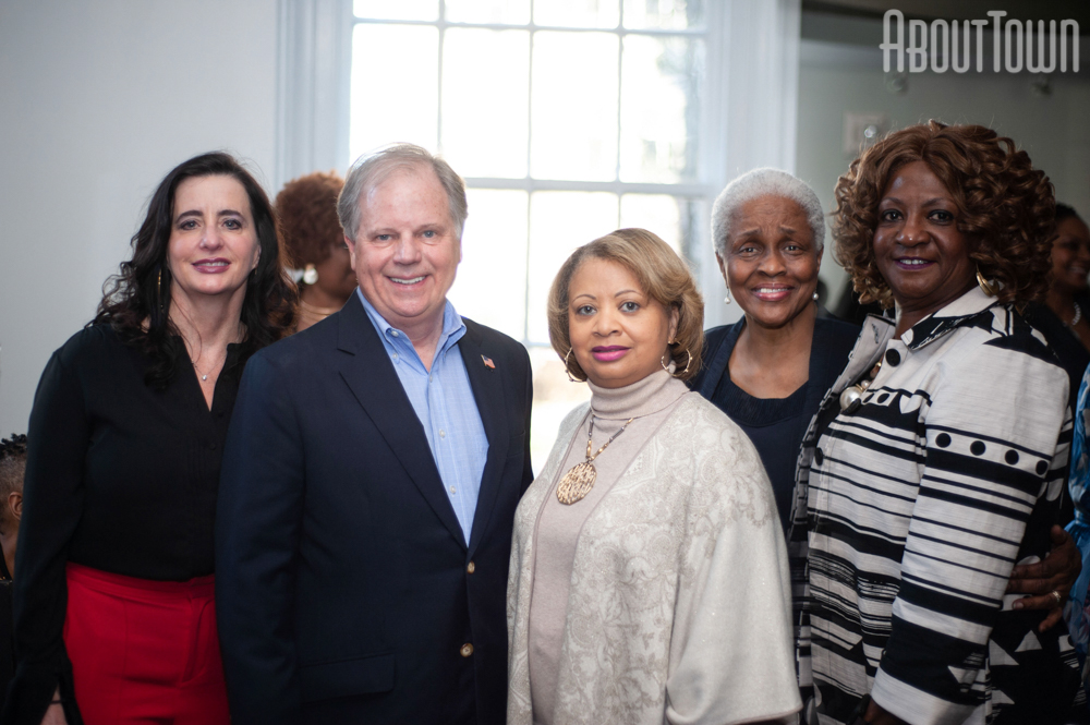 Louise and Doug Jones, Katrina Ross, Cynthia Woodfin-Kellum
