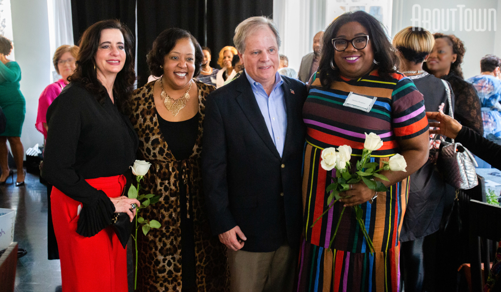 Louise Jones, Martha Emmett, Senator Doug Jones, DeJuana Thompson
