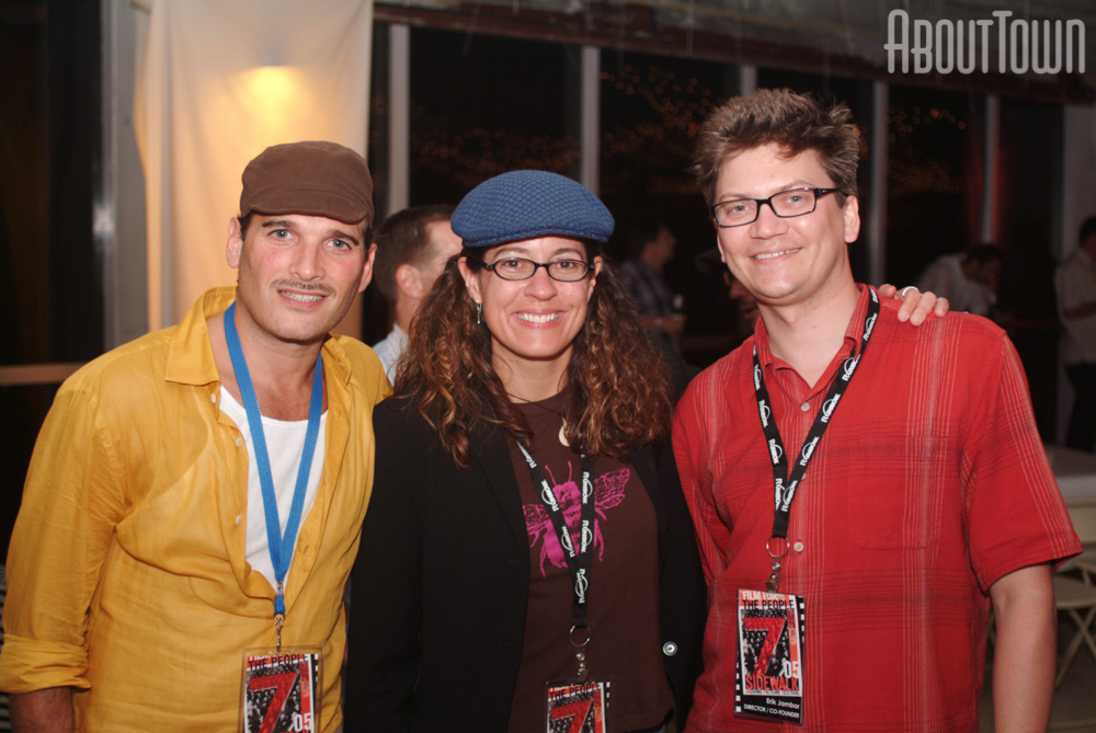 Phillip Bloch (The Unseen), Lisa France (director/writer), Erik Jambor (festival director and co-founder)