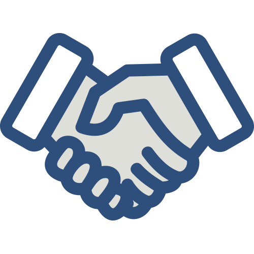 Shaking hands representing the partnership with the Completion Bond Insurer
