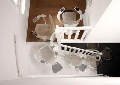 traplift voor trap met bocht