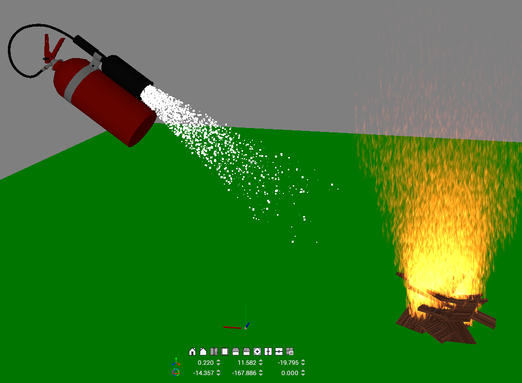 Fire extinguisher in Visionary Render