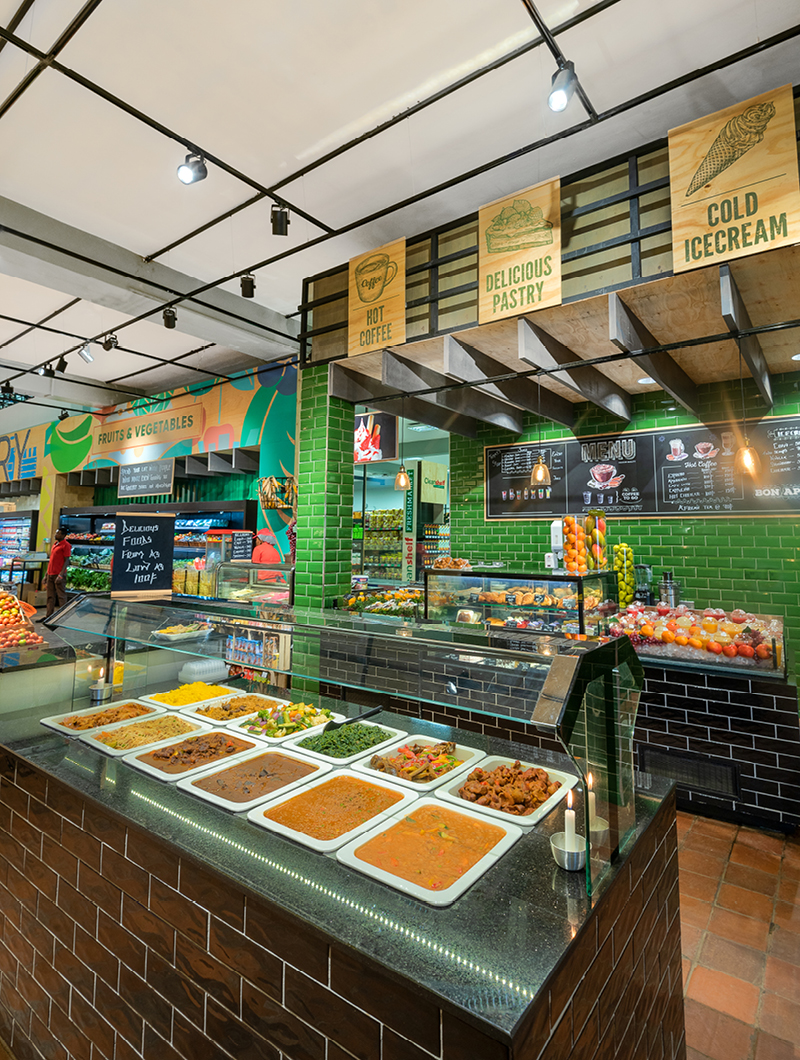 food buffet inside supermarket