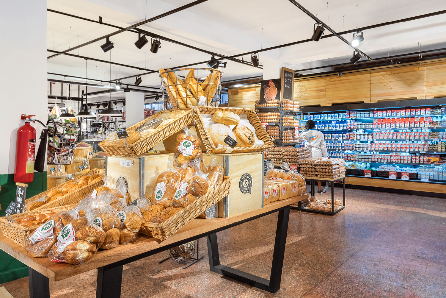 nicely stocked bakery products