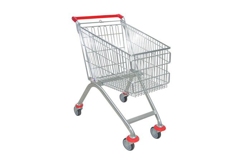 Wire shopping trolleys