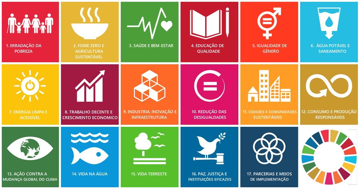 Os 17 ODS também compõem os compromissos do Pacto Global