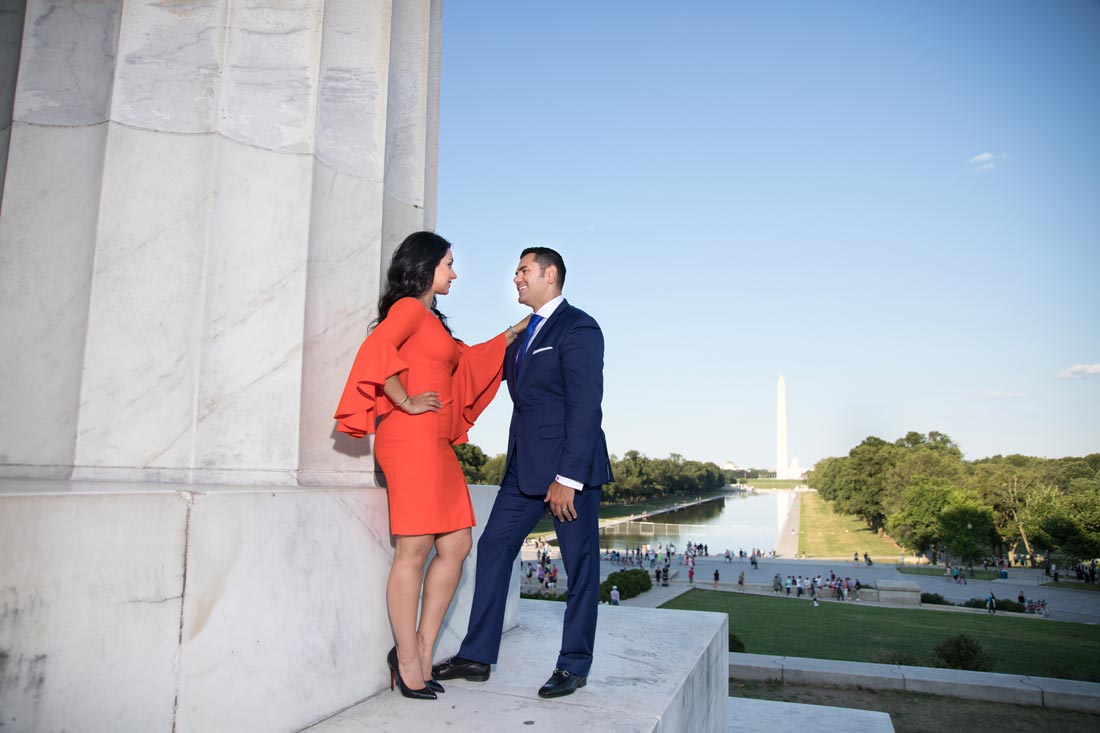 Lincoln Memorial Washington DC - Engagement session