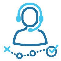 customer support representative providing guidance