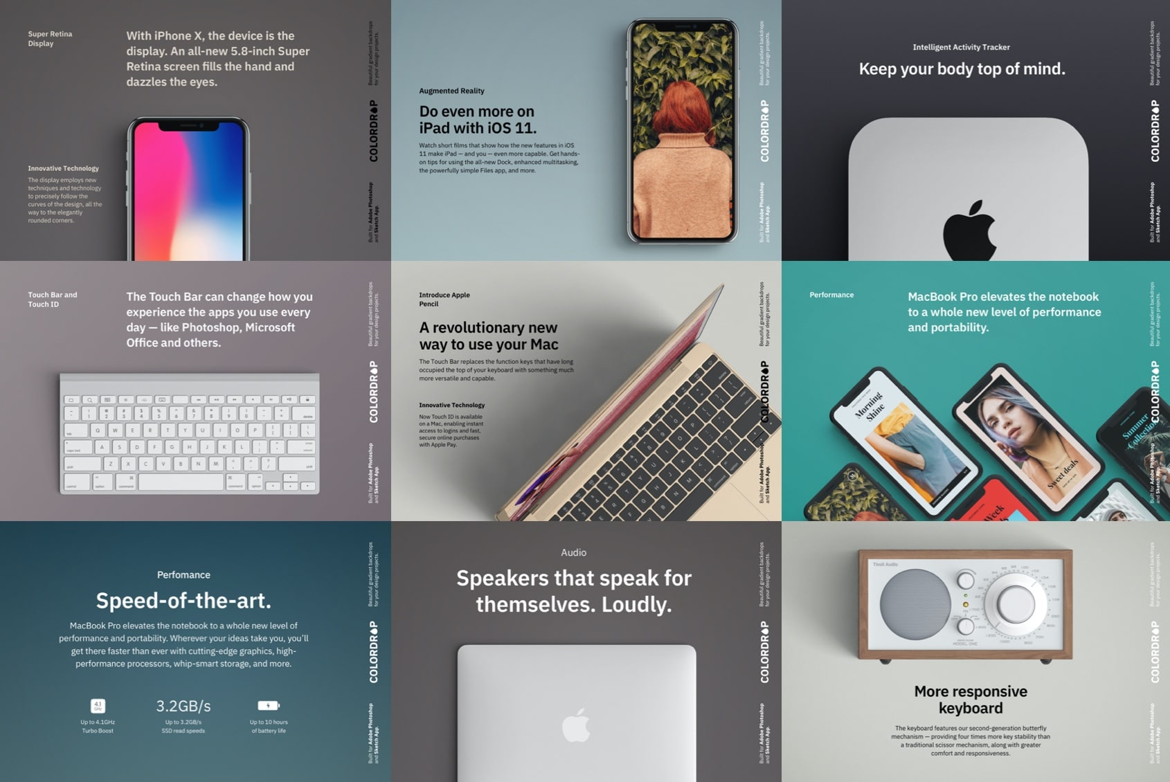 Gradients for Presentations