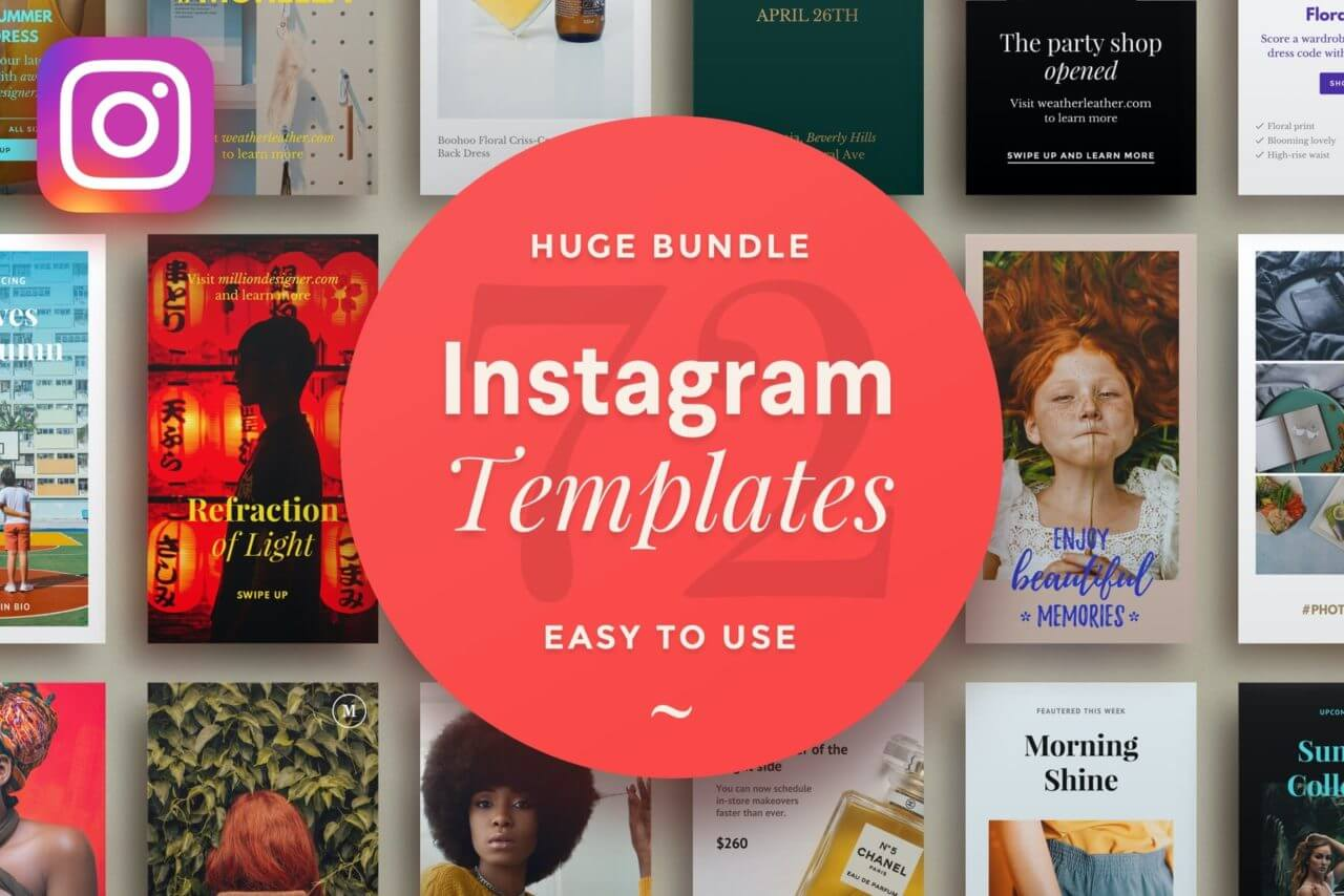 Easy to use Instagram templates
