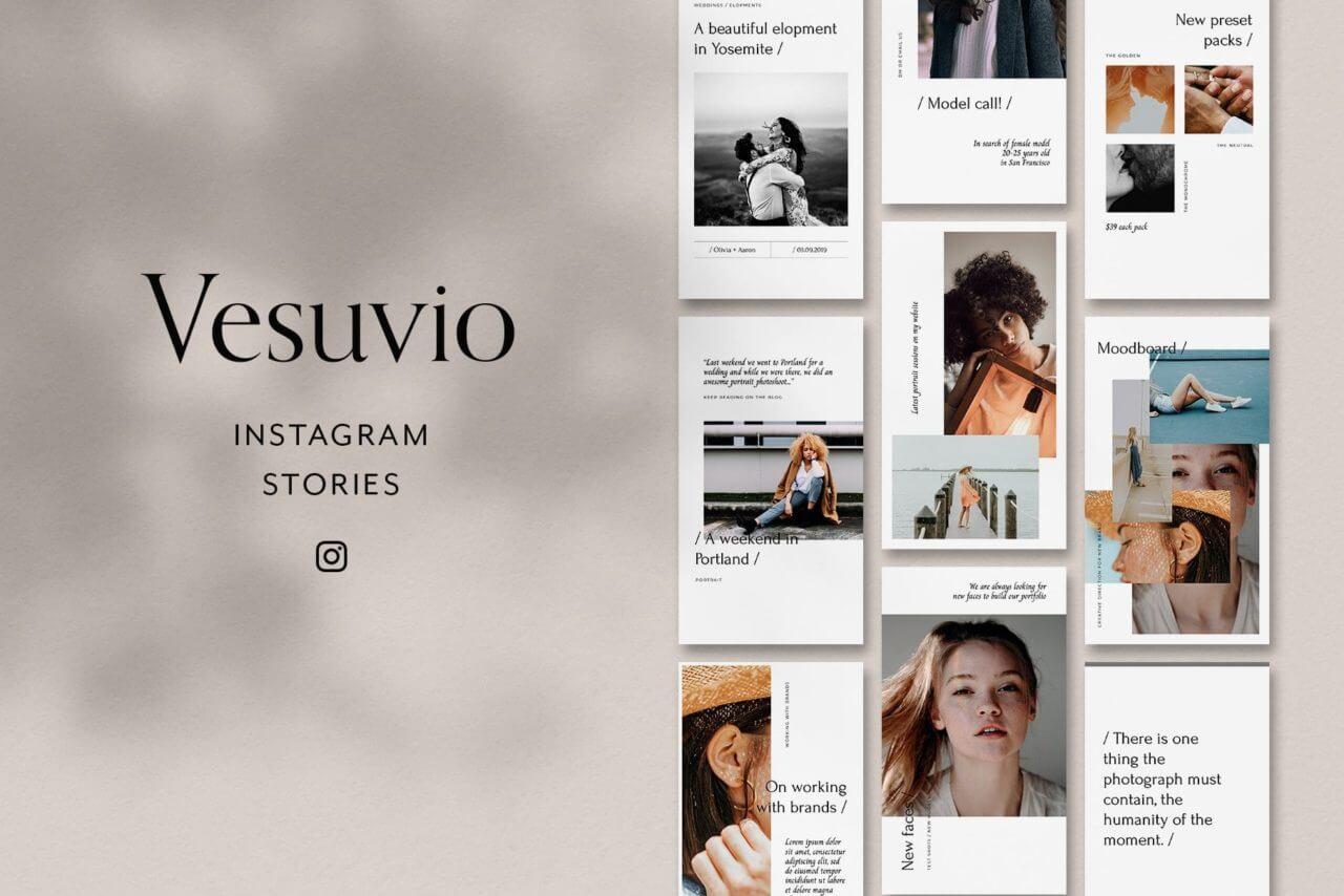 Vesuvio, an Instagram mockup template