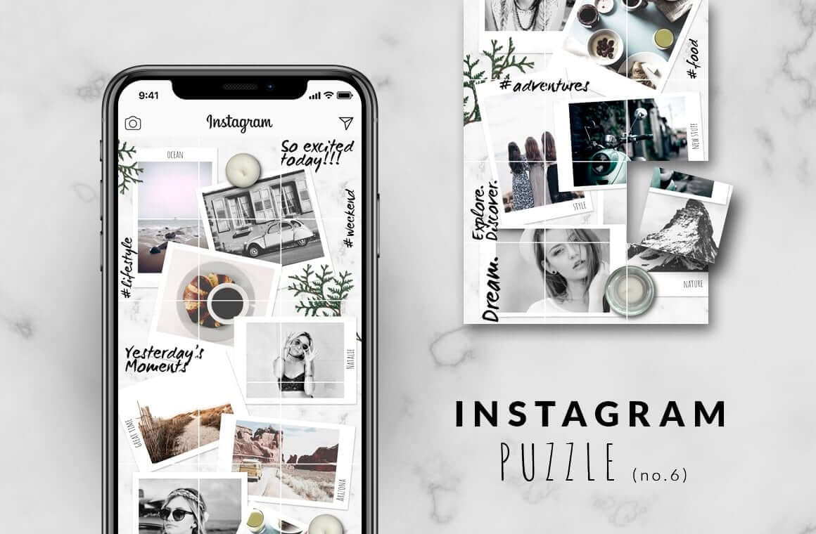 Instagram mockup templates