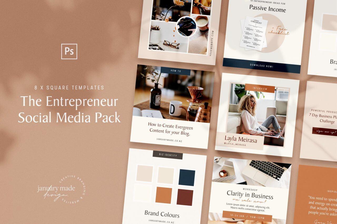 Entrepreneur Instagram mockups