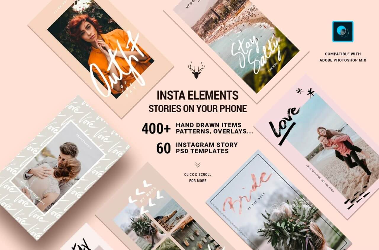 Instagram elements stories on your phone