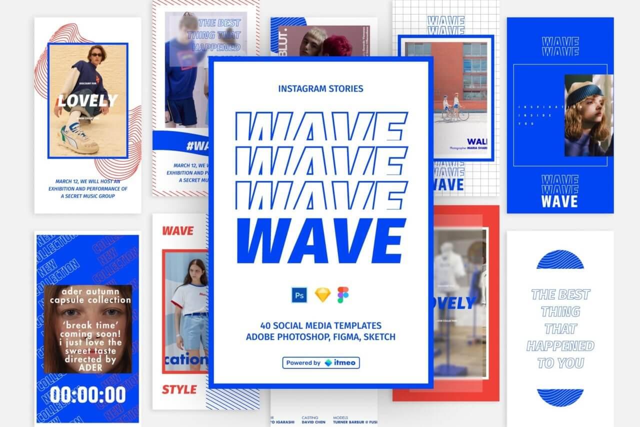 Wave, an Instagram mockup template