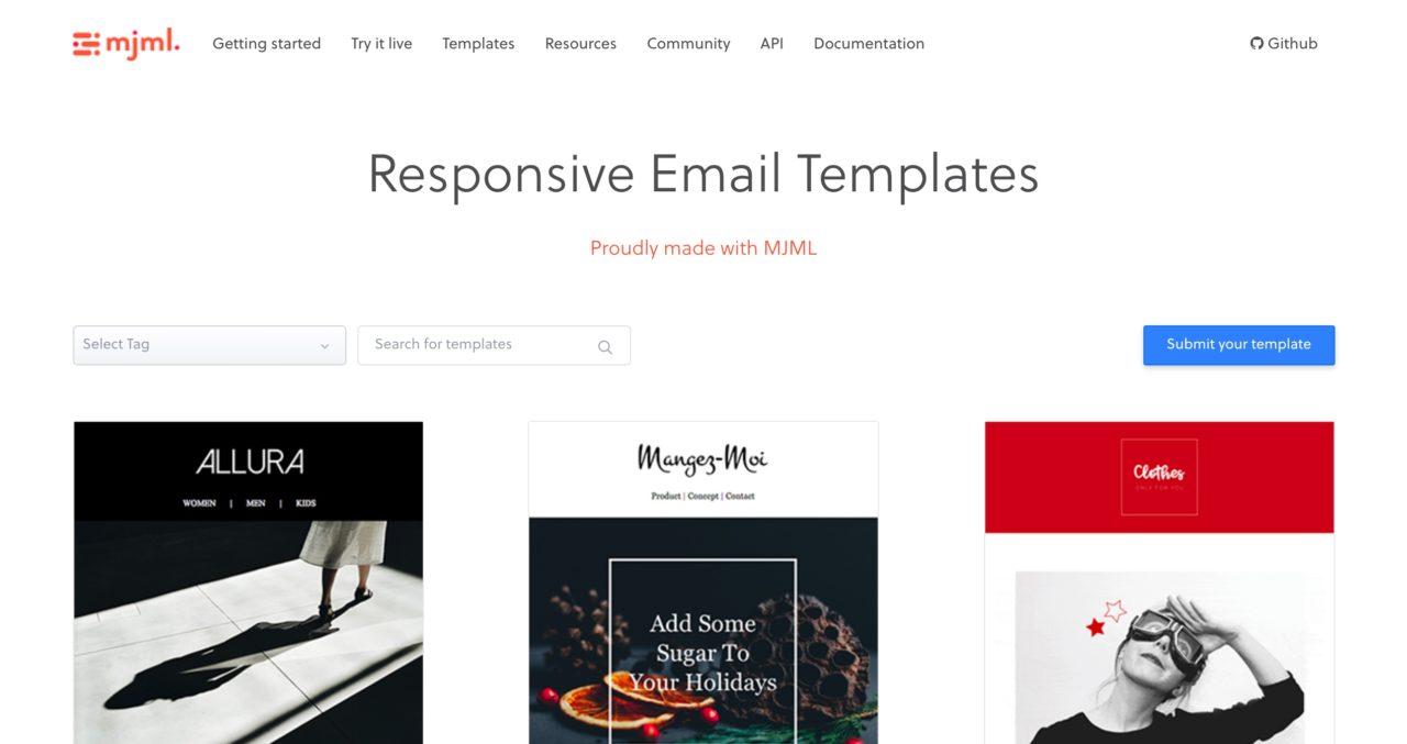 Mjml: Responsive Email Templates