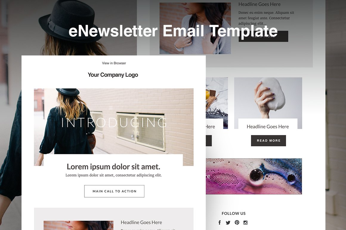 Responsive Email Template HTML Blog