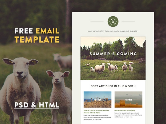 Green Village- HTML Email Template