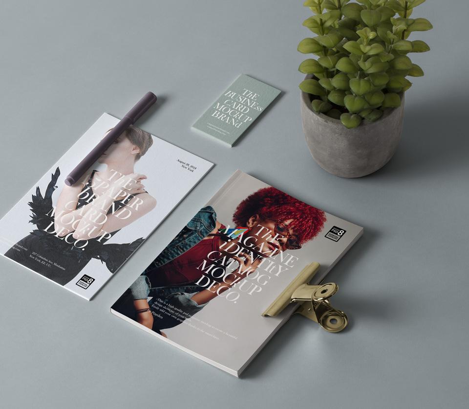 Branding PSD Magazine Mockup