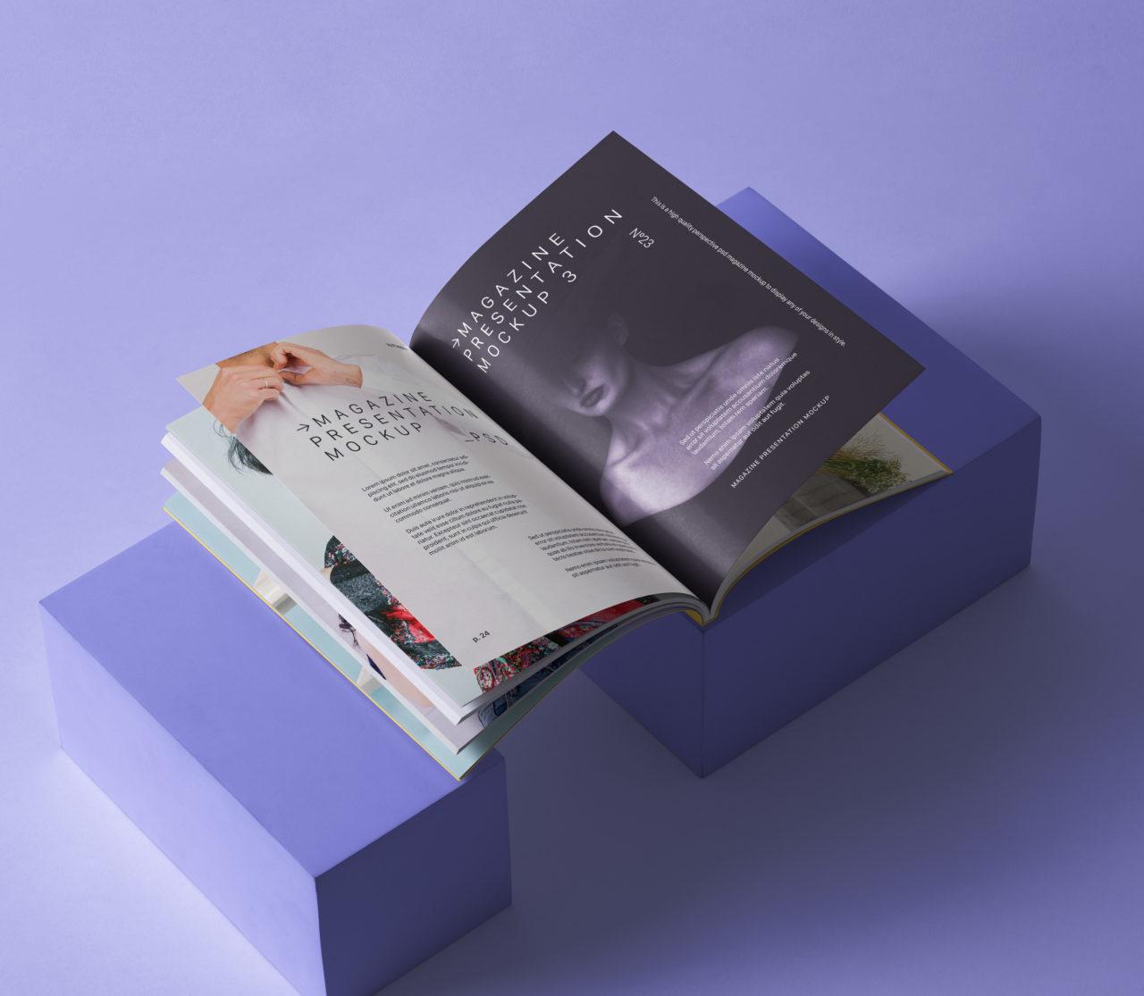 PSD Magazine Mockup Presentatio