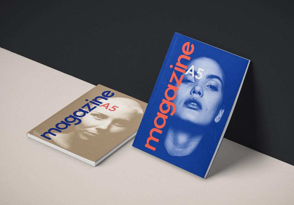 Compact PSD Magazine Mockup