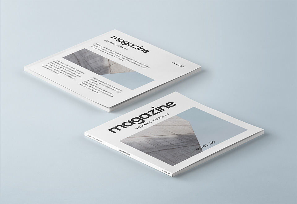Square PSD Magazine Mockup Vol3