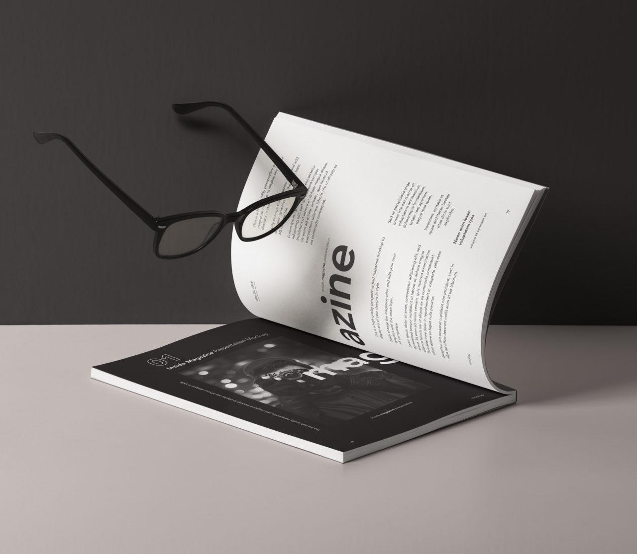 Inside Magazine Presentation Mockup