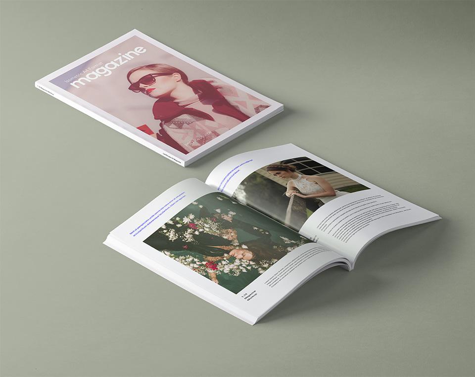 A4 PSD Magazine Mockup Template