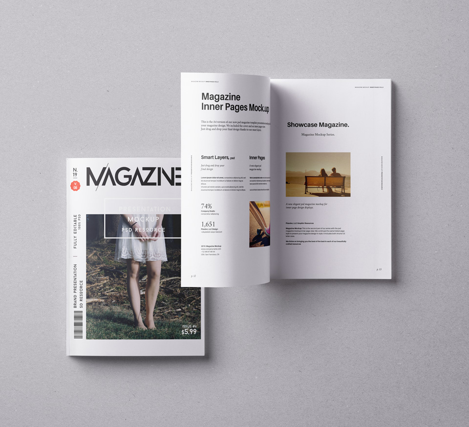 PSD Magazine Mockup Vol8
