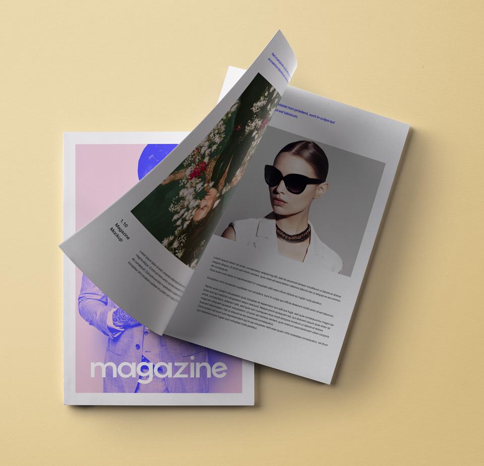 PSD Magazine Mockup Vol11