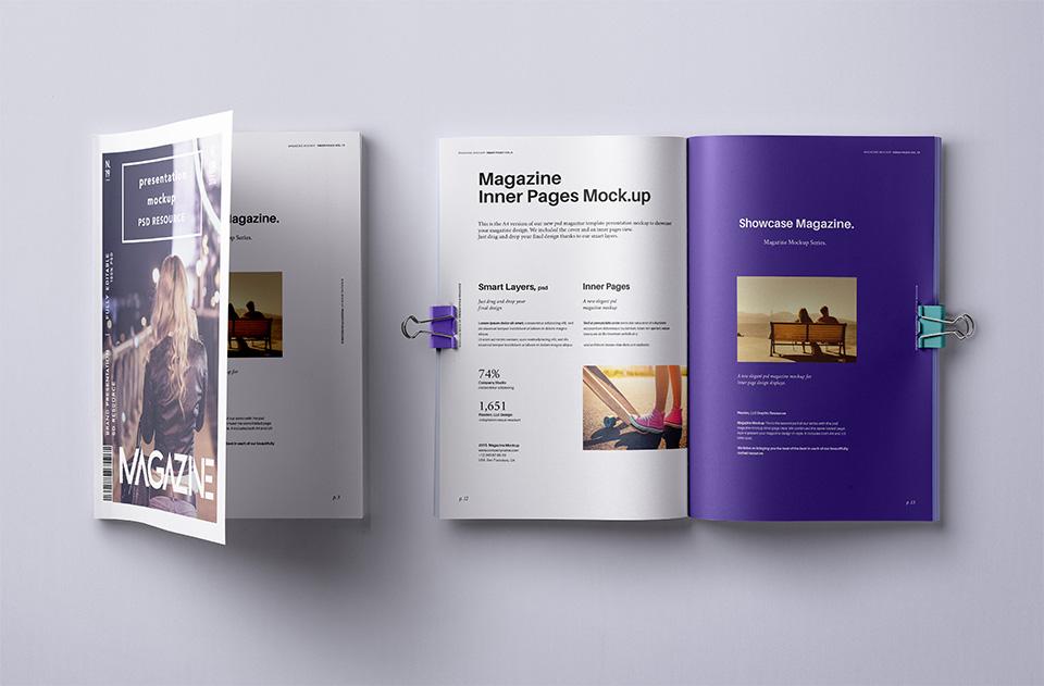 PSD Magazine Mockup Vol10