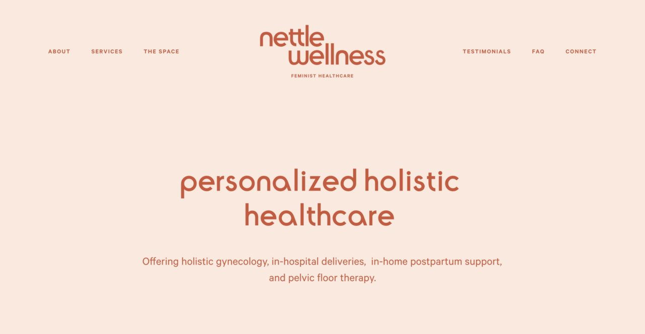 Nettle Wellness font combinations