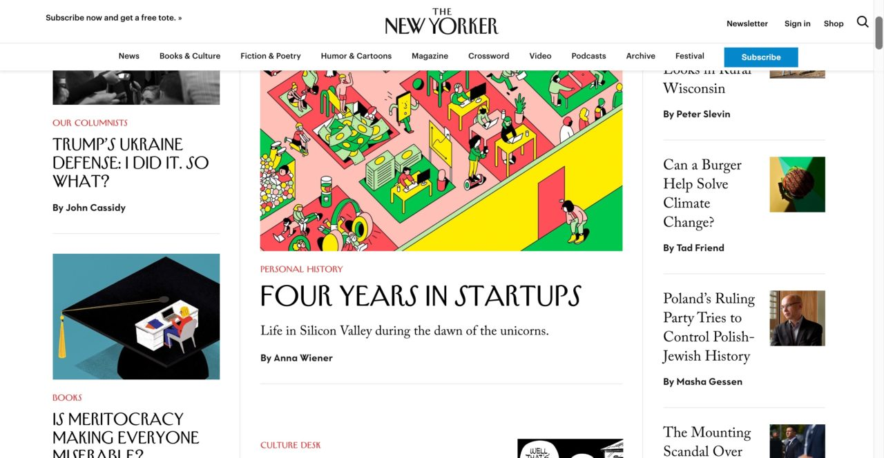 The New Yorker Website Design