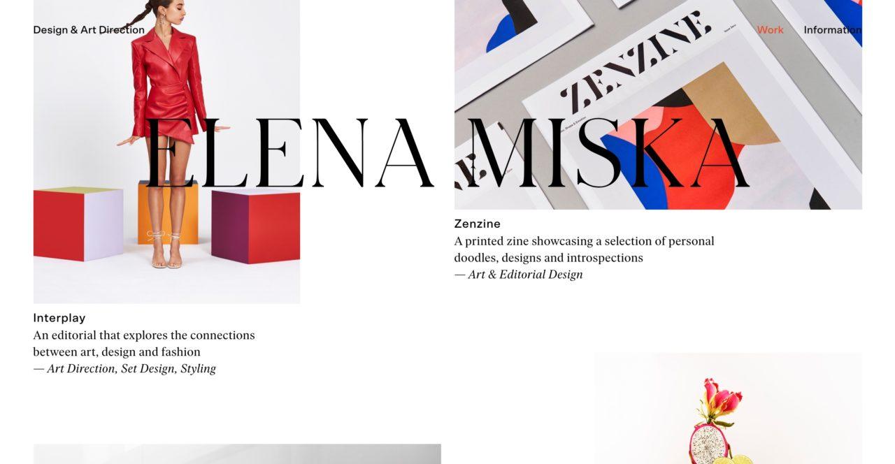 Elena Miska font combinations