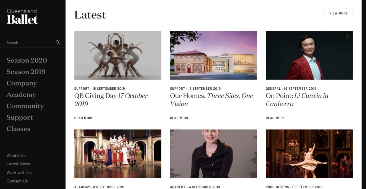 Queensland Ballet font pairings