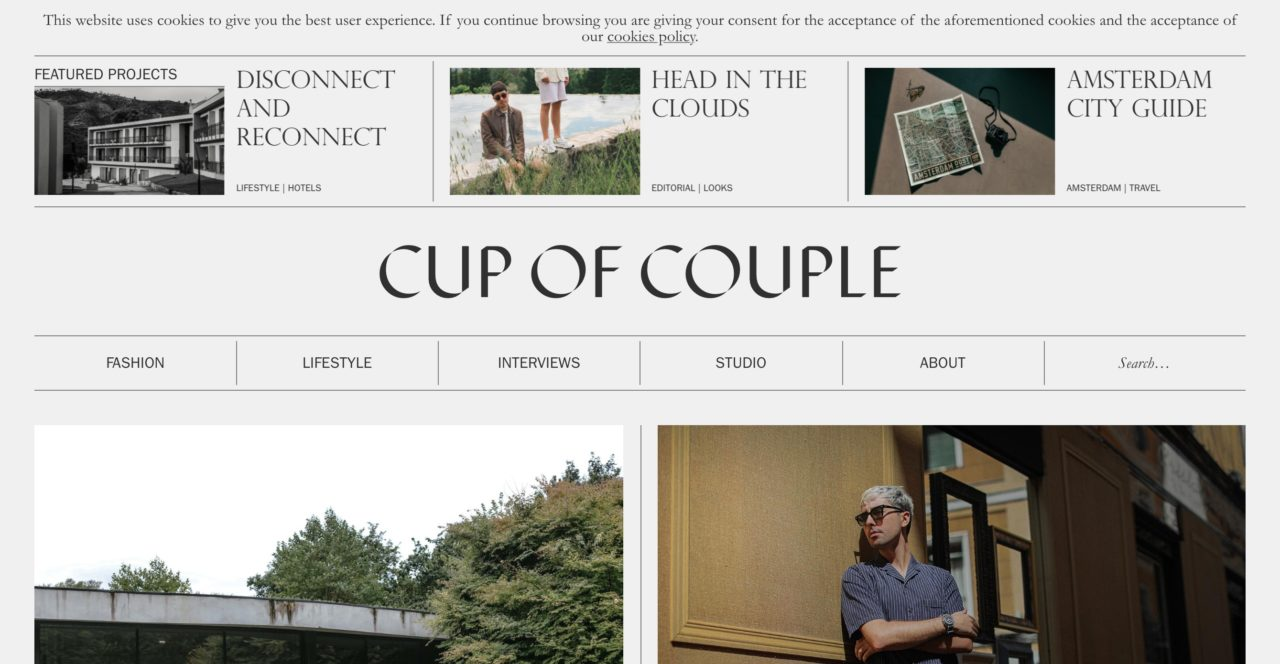Cup of Couple web design