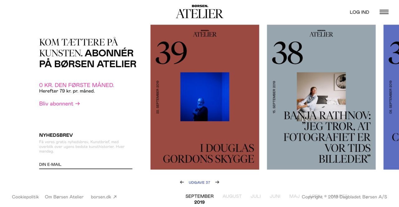 Borsen Atelier font combinations