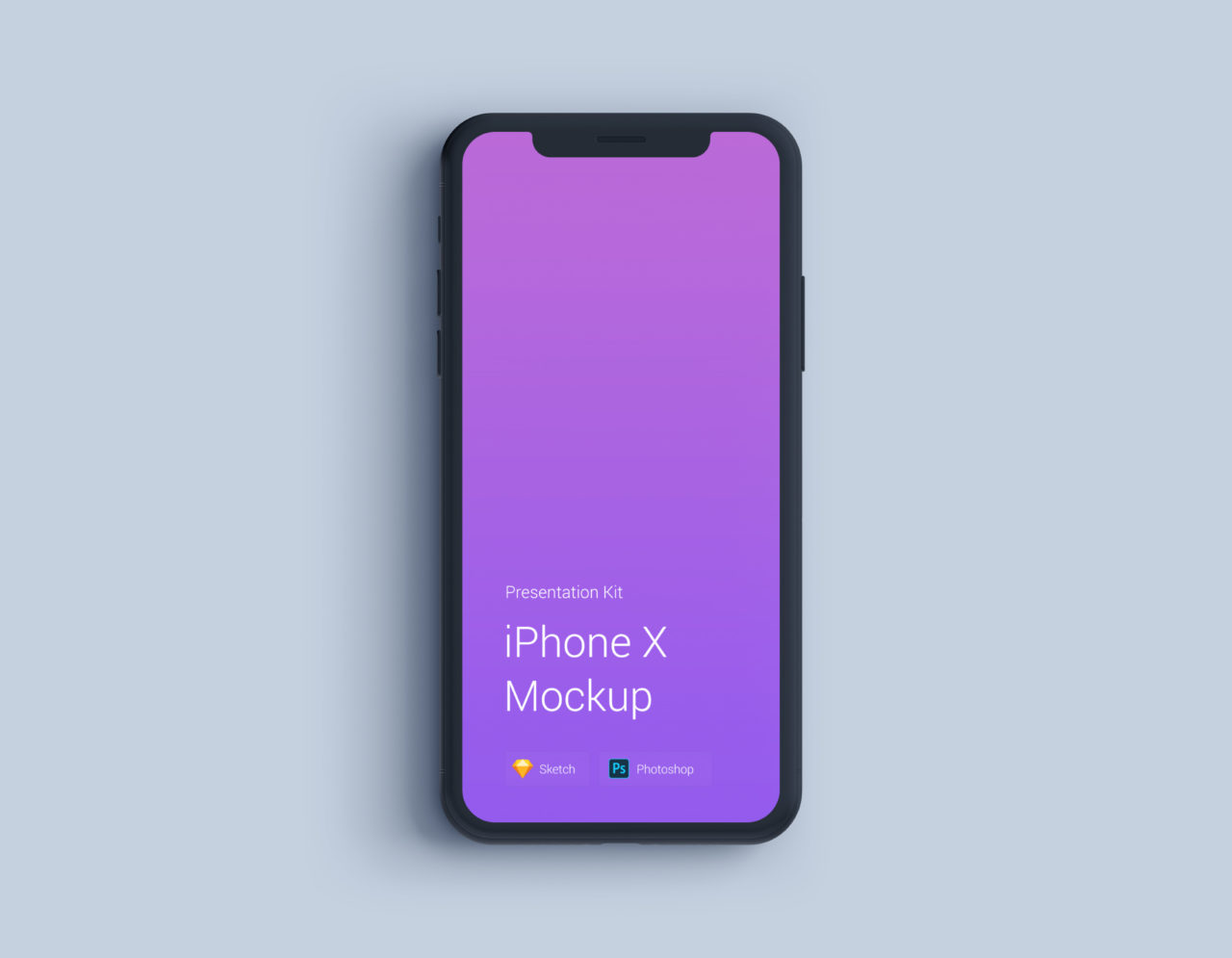 UPD iPhone X Mockup Changeable Color