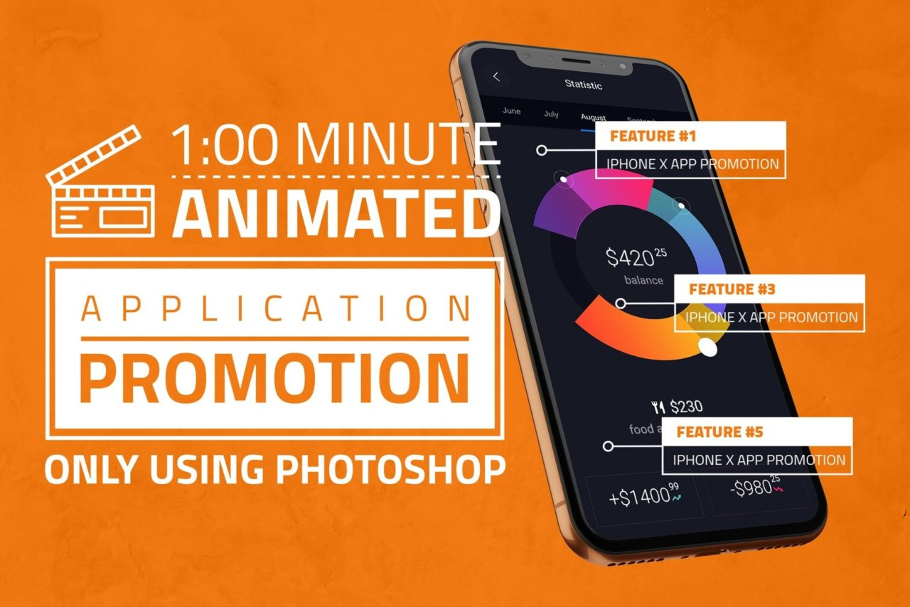 iPhone X App Promotion PSD