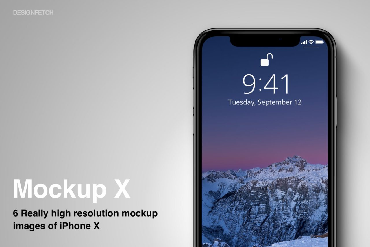 6 iPhone X PSD