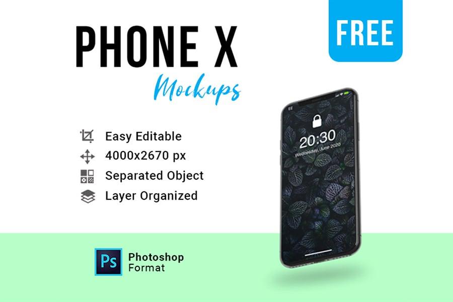 Stylish iPhone X Mockup