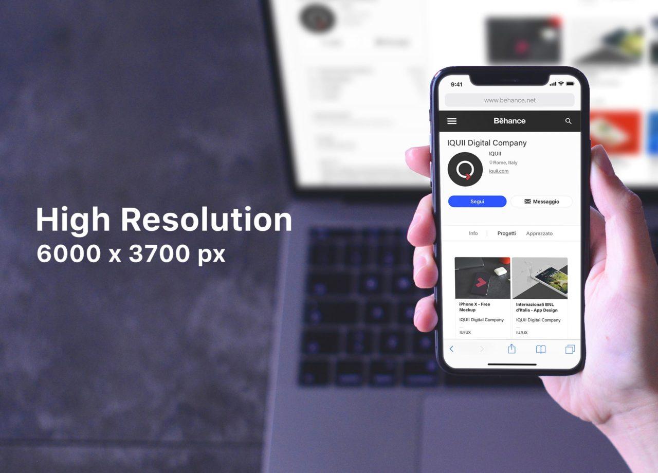iPhone X- Free Responsive Mockup