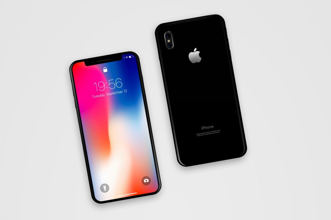 iPhone X Front and Back Mockup PSD