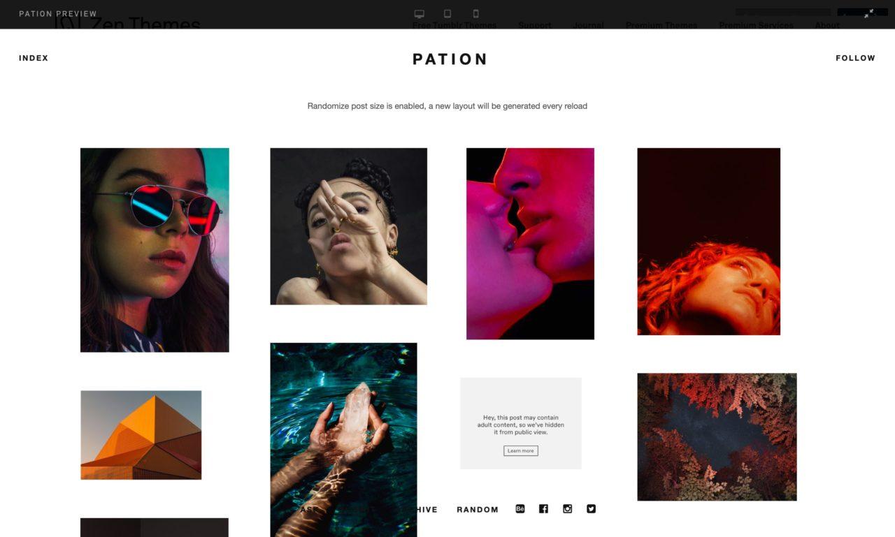 pation tumblr theme