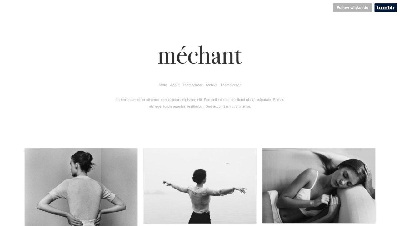 wicked tumblr theme