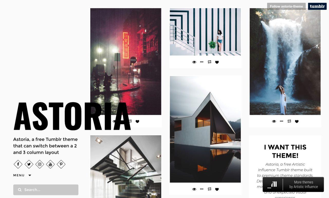 astoria tumblr theme